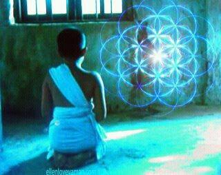 jonge monnik met flower of life